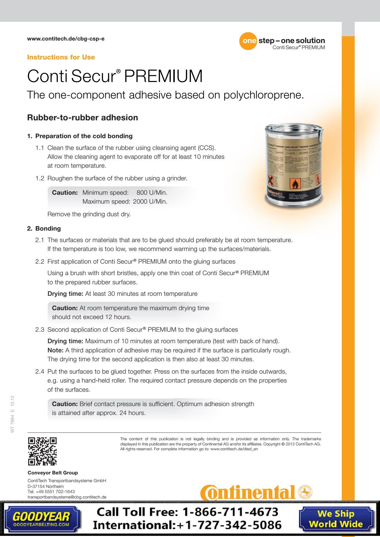 Contitech Secure Premium Cement Goodyear Belting