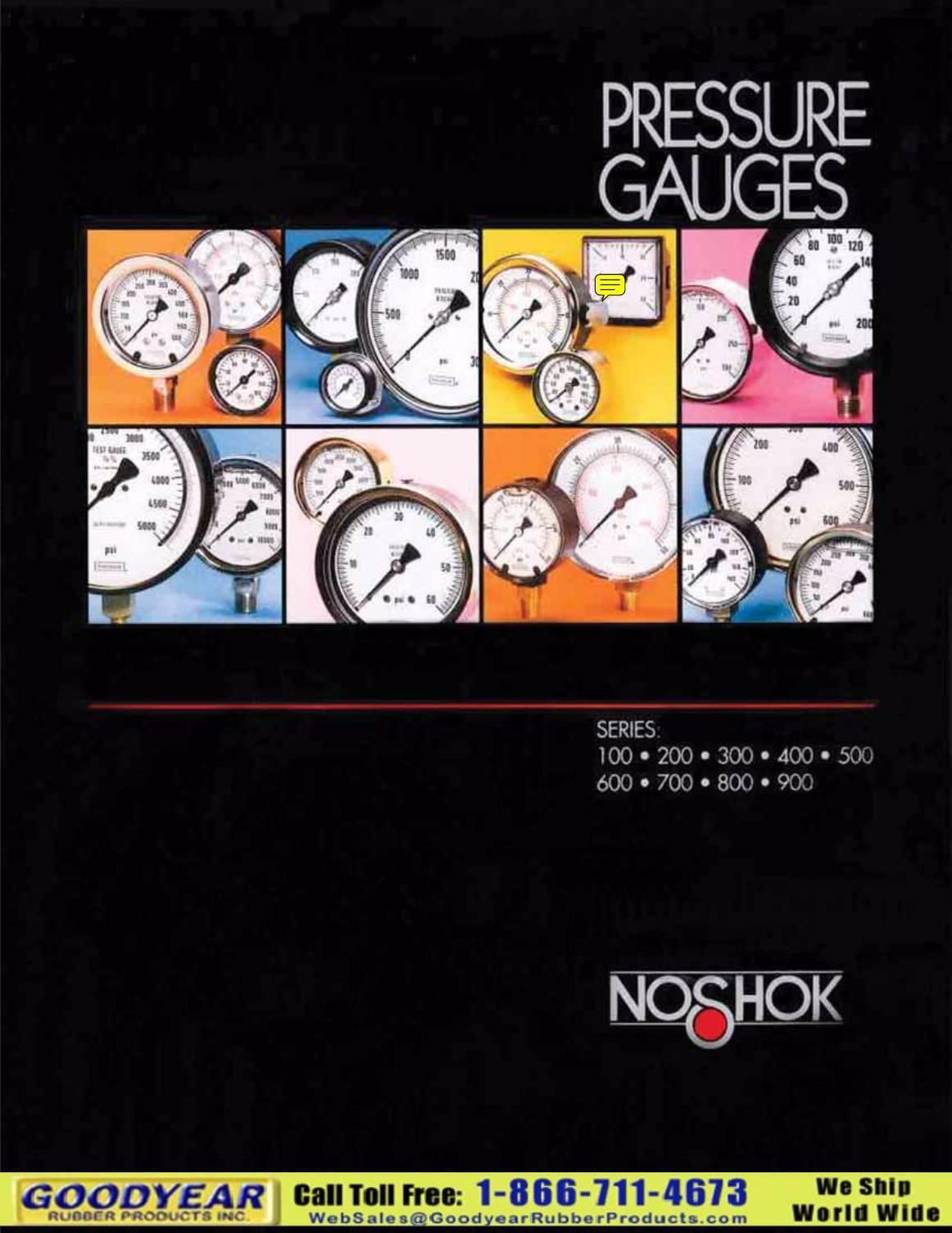 NOSHOK pressure gauges
