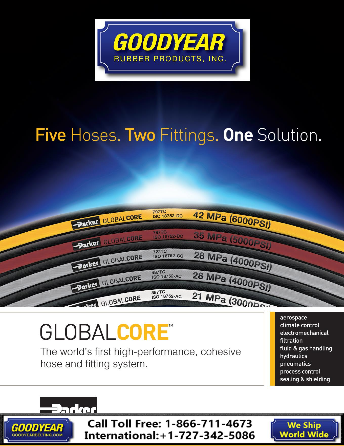 Parker Global Core Hoses Goodyear Rubber Products 866 711 4673