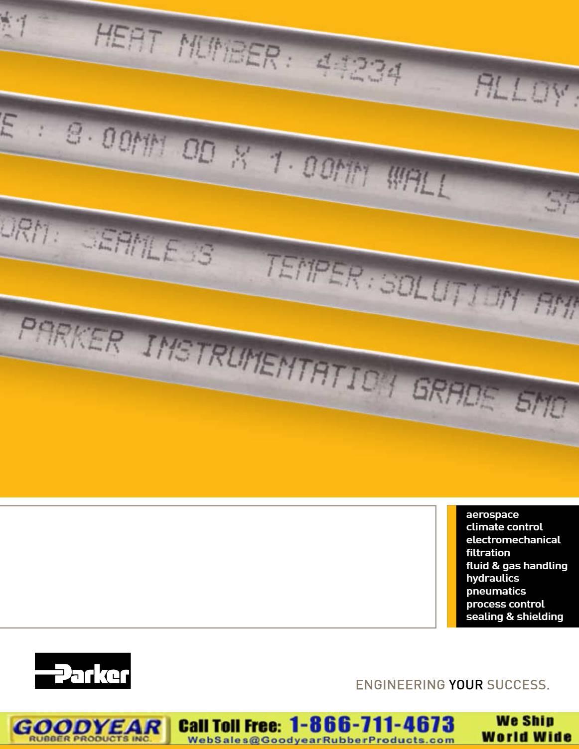 Parker Instrumentation Tubing Catalog