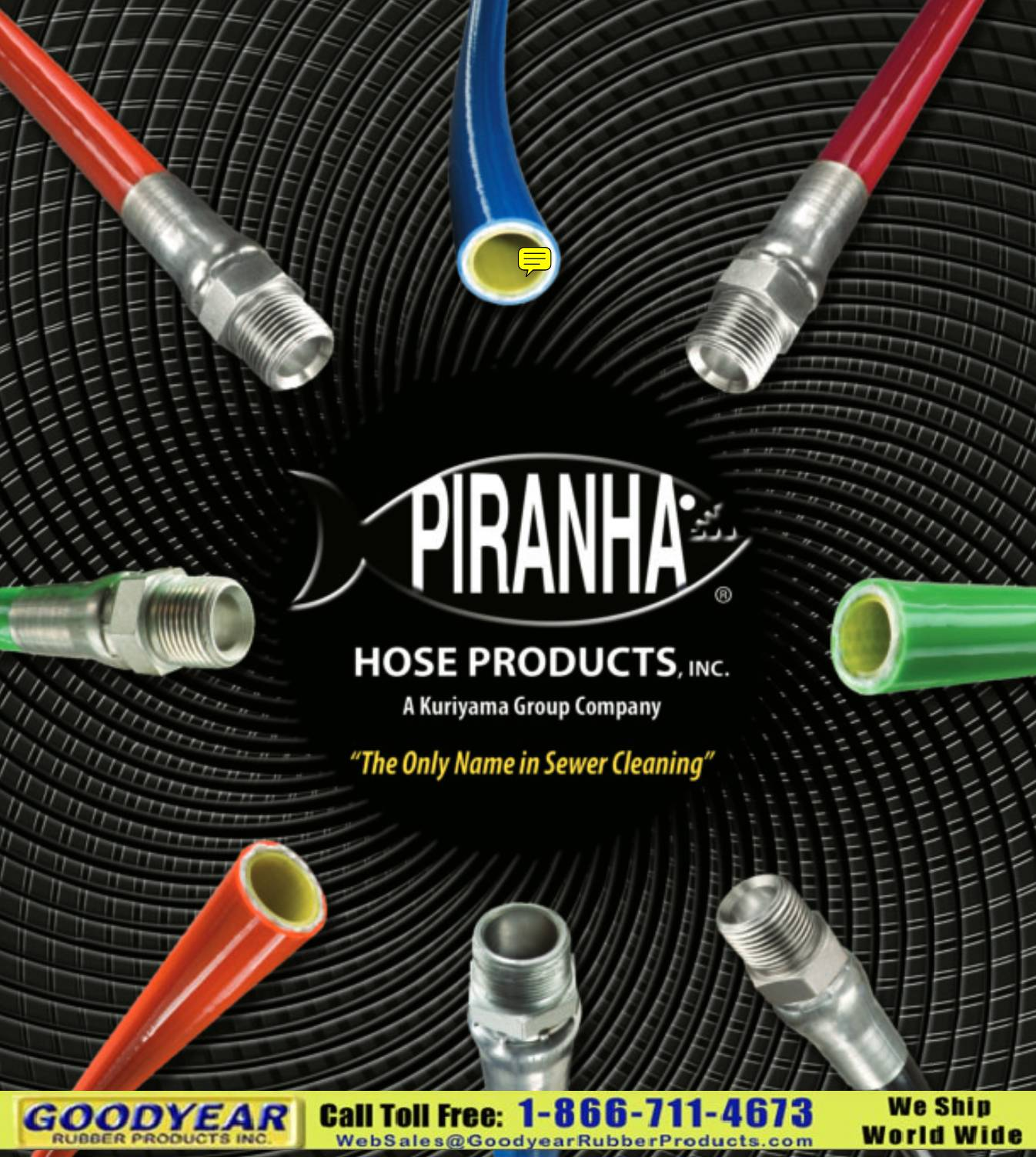 Piranha Sewer Cleaning Hose