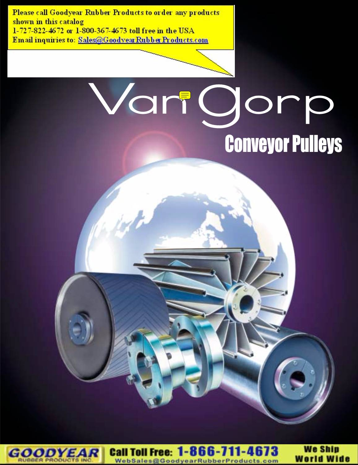 VanGorp Conveyor Pulleys